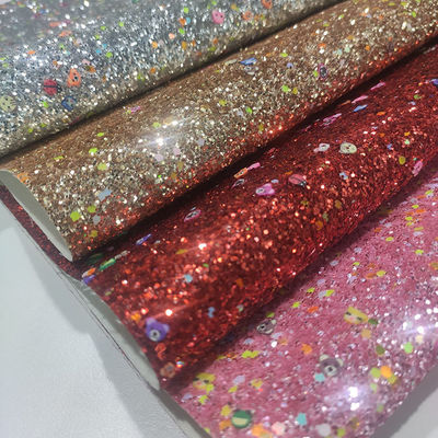 54/55' 50m/Roll Polymer Clay Glitter Leather Fabric